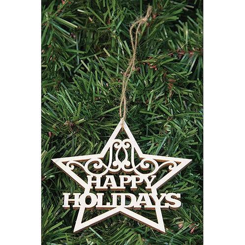 *24/Box Happy Holidays Star Orns