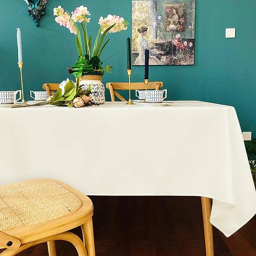 "10 pcs 60"" x 102"" Rectangle Polyester Tablecloth-Ivory"