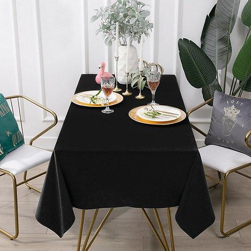 "10 pcs 90"" x 132"" Rectangle Polyester Tablecloth-Black"