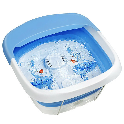 Foot Spa Bath Motorized Massager with Heat Red Light-Blue
