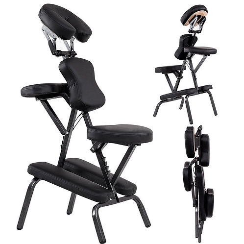 PU Leather Pad Travel Massage Chair with Carrying Bag