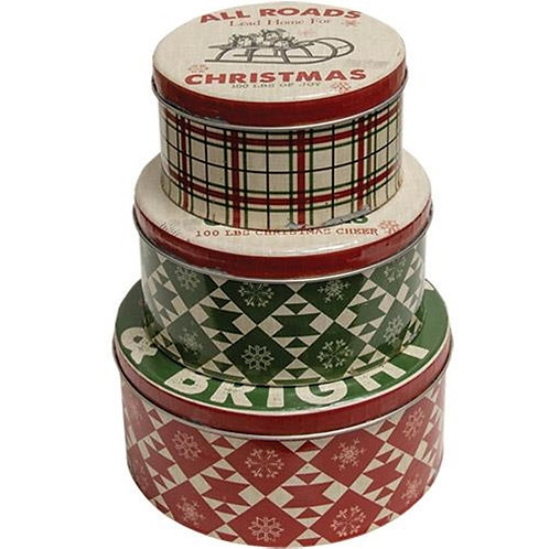 *3/Set Be Merry & Bright Canisters