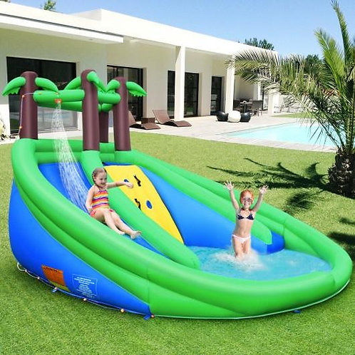 Inflatable Water Park Pool Bounce House Dual Slide Climbing