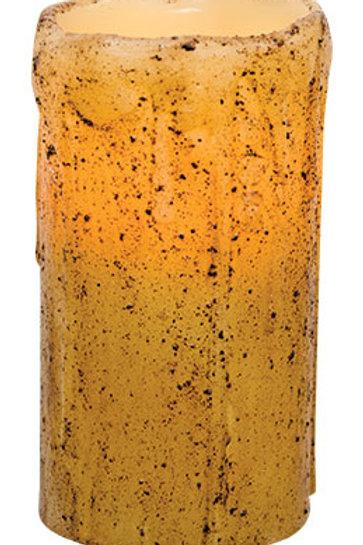 "6"" Burnt Ivory Remote Pillar"