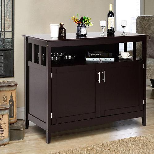 Modern Wooden Kitchen Storage Cabinet -Brown