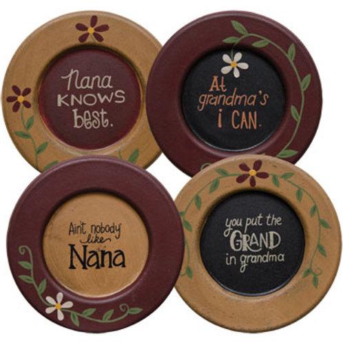 Pack of 4 Grandma or Nana Plate 4 Asstd.