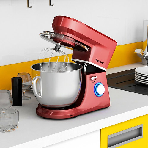 7.5 Qt Tilt-Head Stand Mixer with Dough Hook-Red