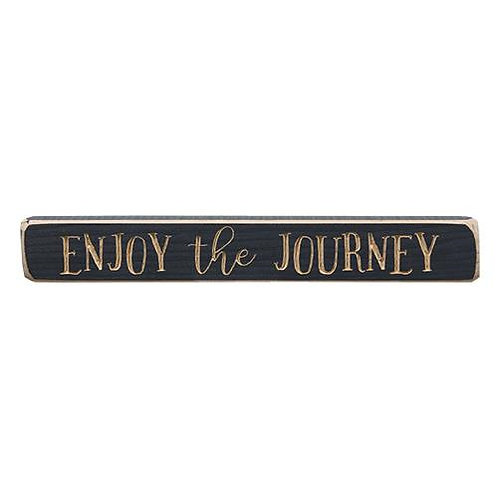"""Enjoy the Journey Engraved Sign 12"""" (Pack of 4)"""