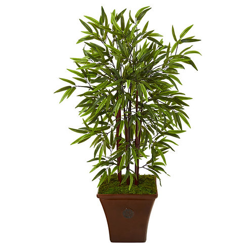 "45"" Bamboo Artificial Tree in Brown Planter"