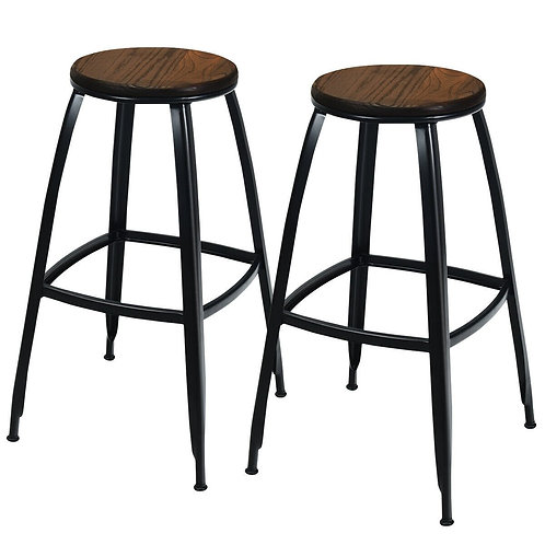 """30"""" Set of 2 Industrial Height Bar Stools"""