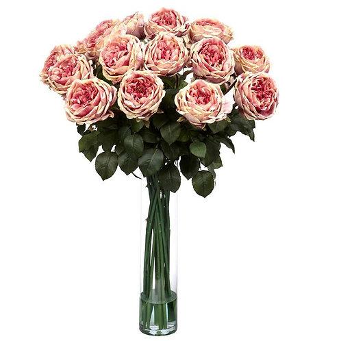 Fancy Rose Silk Flower Arrangement