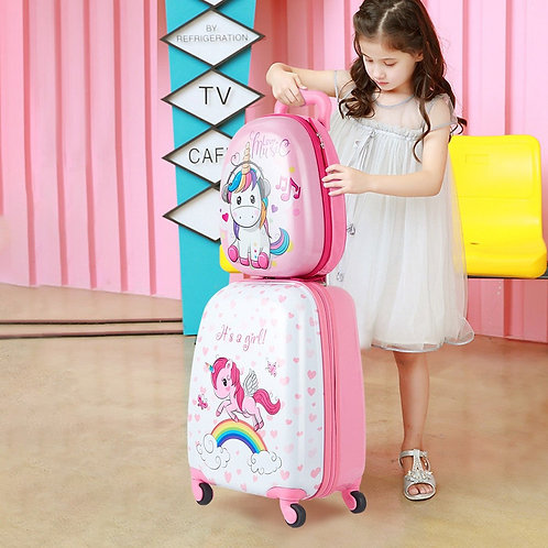 "12"" Backpack and 16"" Rolling Suitcase Kids Luggage Set"