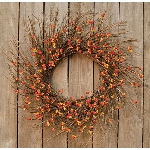 Bittersweet Sunburst Wreath