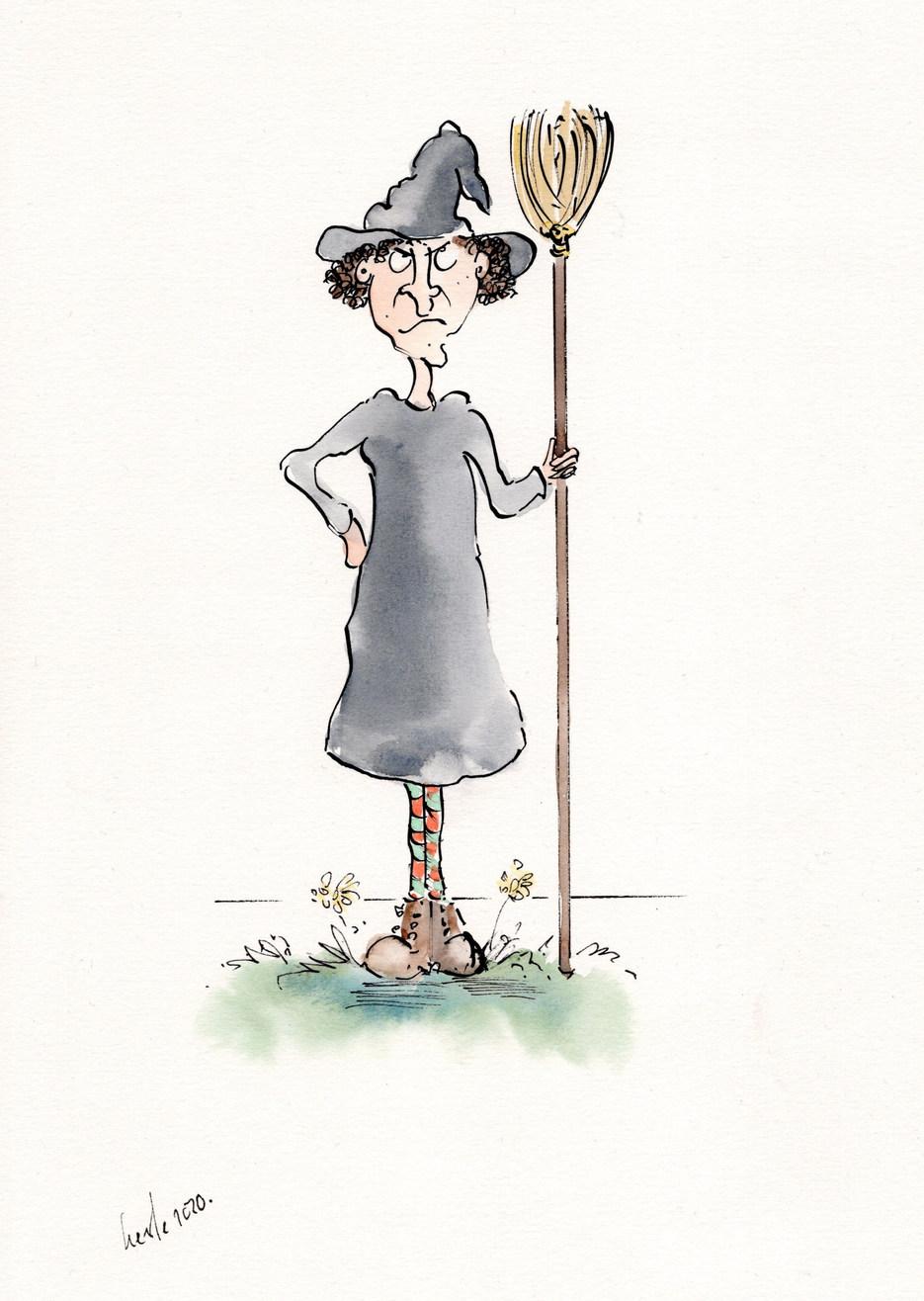 Agatha & broomstick