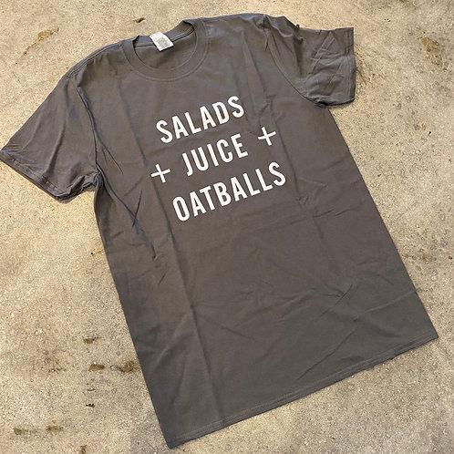 Salads Juice Oatballs Tee
