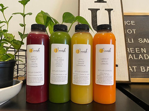 8oz Juice Sampler