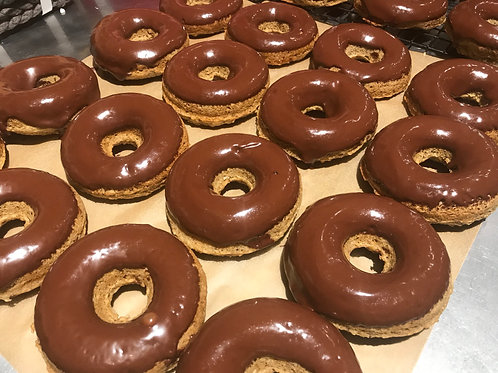 Banana Chocolate Doughnuts (V)(GF)