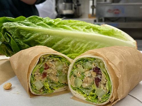 Cranberry Walnut Chickpea Salad Wrap