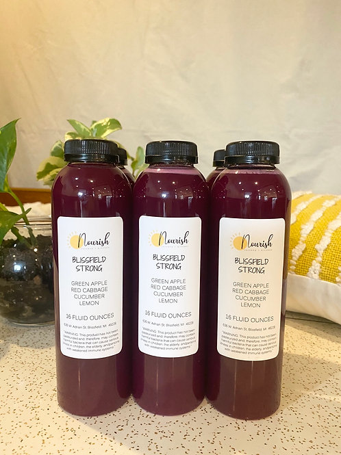 Blissfield Strong Juice