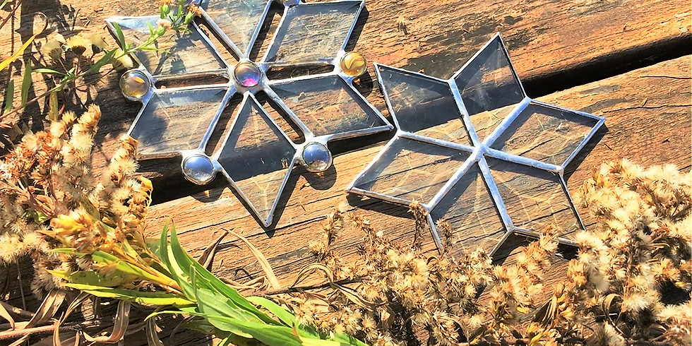 Art and Appetizers- Stained Glass Snowflakes