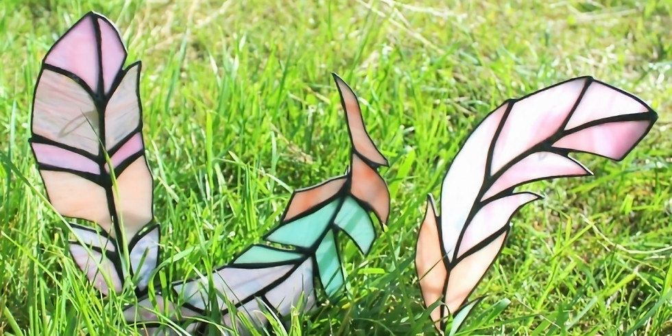 Stained Glass Feathers at The White River Craft Center