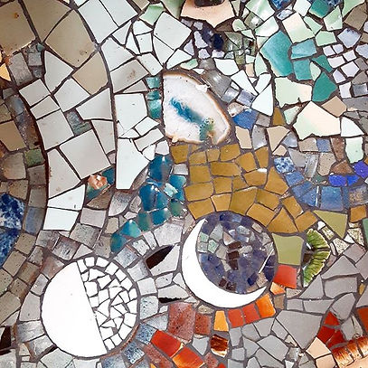 Detail from Mosaic hearth