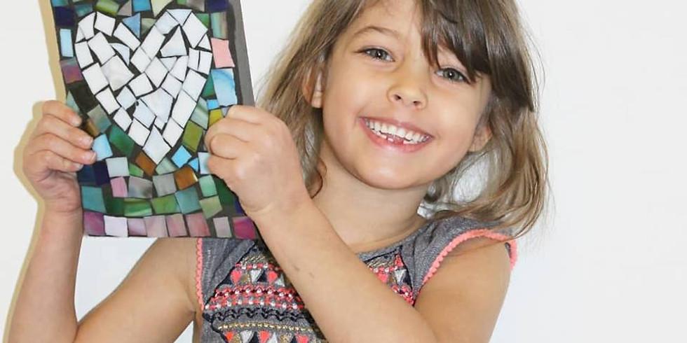 Kid's Mosaic Art! East Montpelier, Vermont