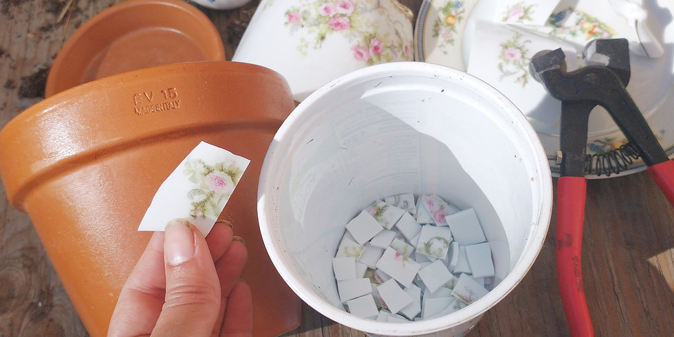 Mosaic Flower Pots  @WRCC
