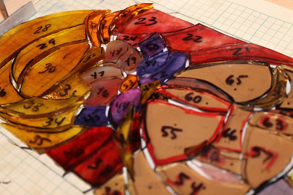 """""""Amber"""" Stained Glass Panels"""