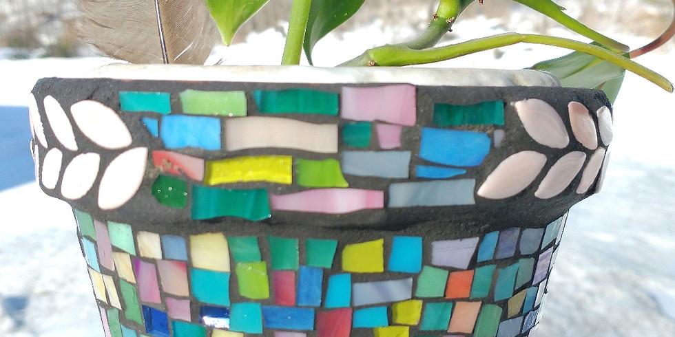 Mosaic Flower Pots at ArtisTree