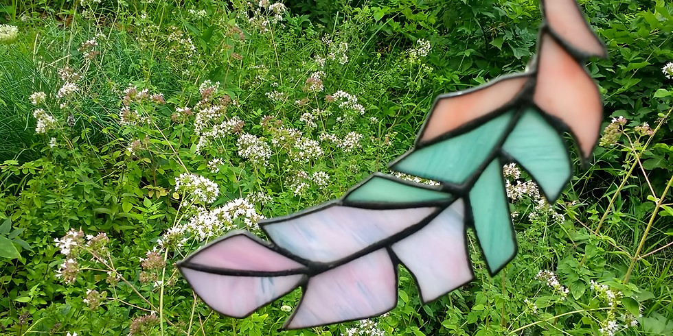 Stained Glass Feathers- Hardwick, VT