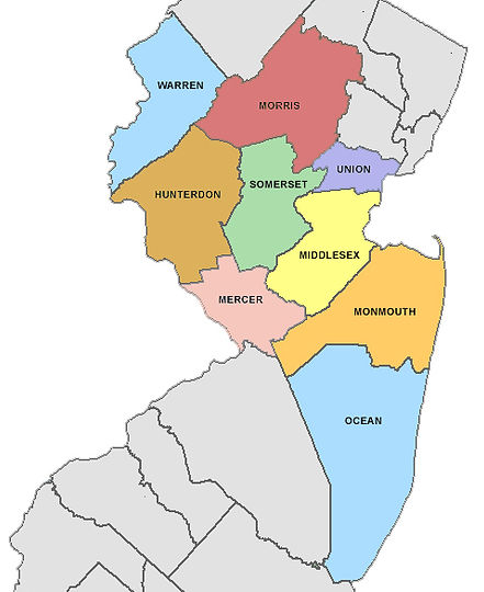 Map of NJ Service Areas