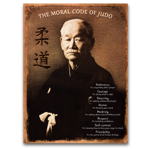 MORAL CODE OF JUDO POSTER-FRENCH