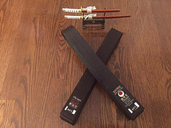 TOKAIDO BLACK BELT SATIN FIST LABEL TOKAIDO-PRO