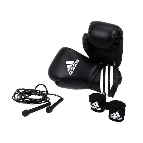 Adidas Boxing Kit (Gloves, handwrap and rope)