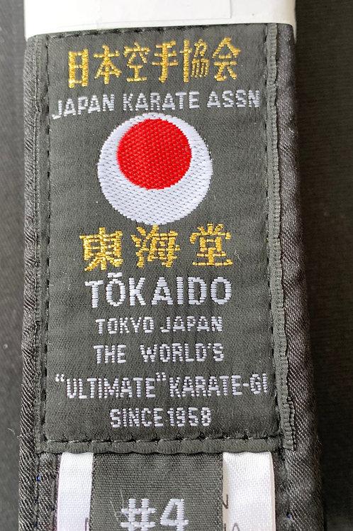 TOKAIDO BLACK BELT SATIN JKA LABEL TOKAIDO-PRO