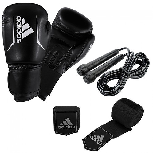 ADIDAS BOXING KIT (12OZ SPEED50 GLOVES, ROPE AND HANDWRAPS)