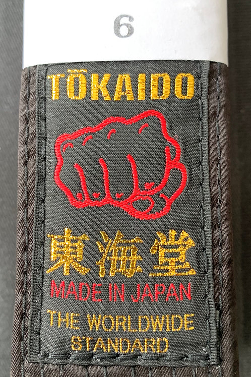 JAPANESE SATIN BLACK BELT-FIST LABEL TOKAIDO EXPERT
