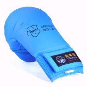WKF-APPROVED TOKAIDO KARATE MITTS WITH THUMB-BLUE
