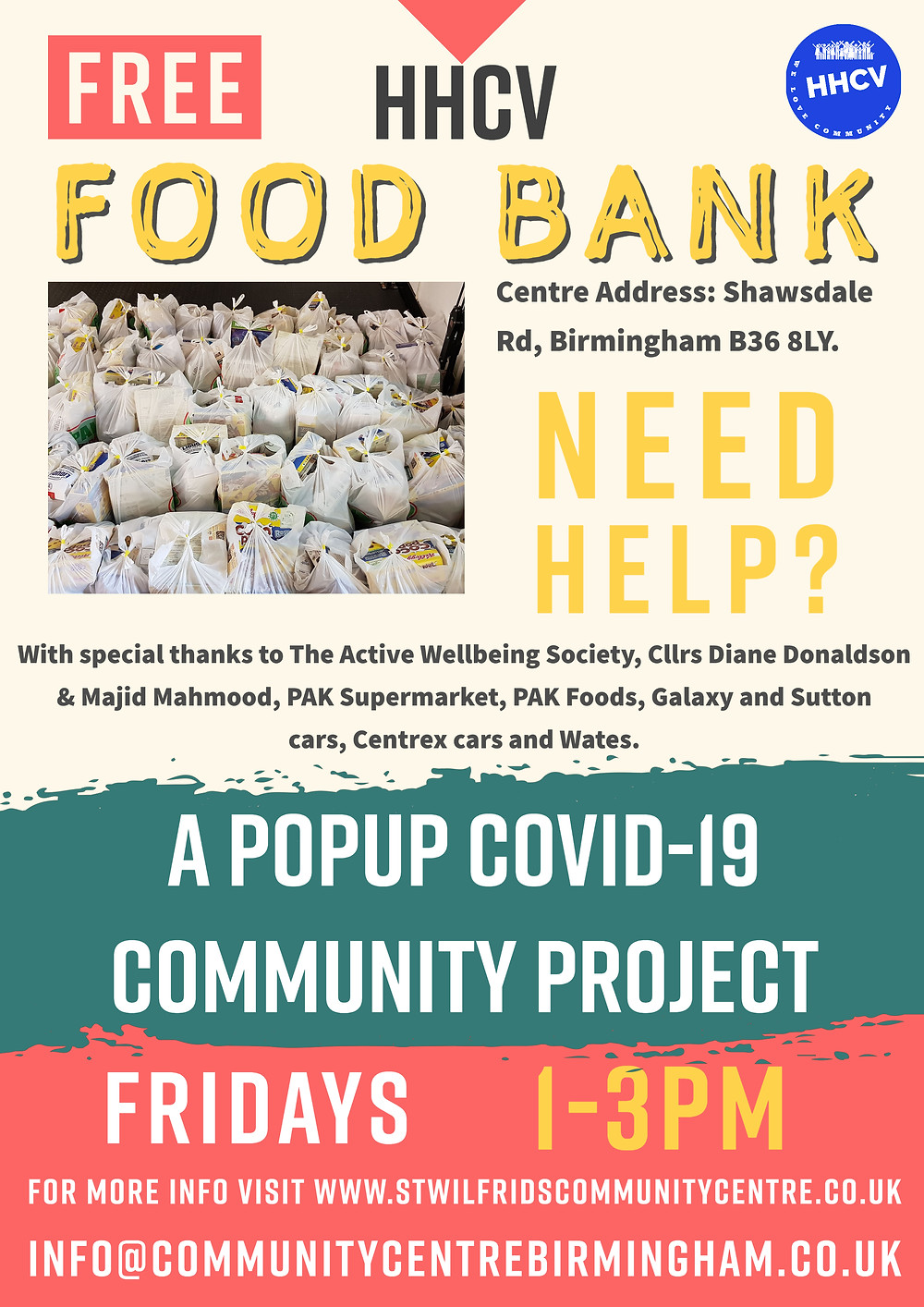 Food Bank #BromfordHodgeHillResidents