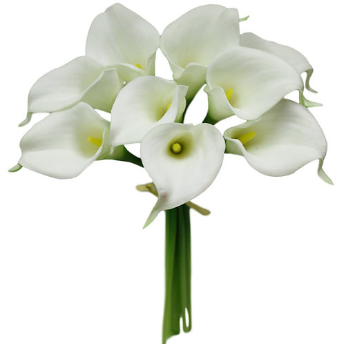 "Mini Real Touch Calla Lily Bouquet - 14"" Long"