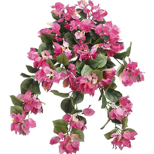 "Artificial Bougainvillea Hanging Bush - 24"" Long"