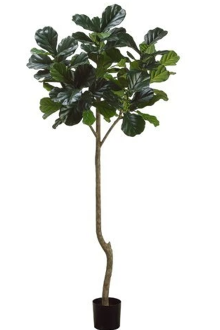 "7' H x 37"" W Silk Fiddle Leaf Tree with 96 leaves"