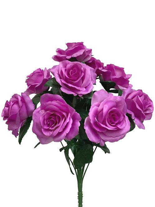 """17"""" Satin Rose Bush x 12 (30388&INT398-LV)"""