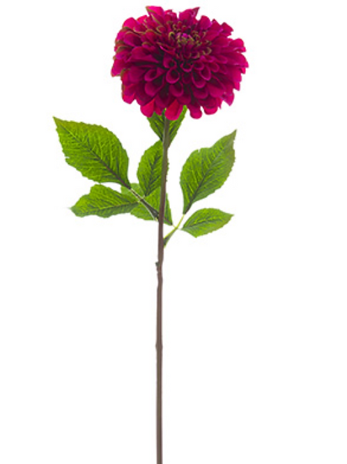 "24"" Silk Dahlia Spray - Beauty"
