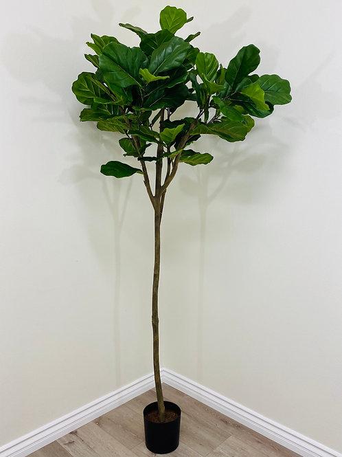 "7' H x 37"" W Silk Fiddle Leaf Tree with 96 leaves"