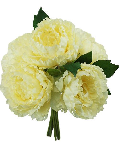 """Silk Peony Bouquet - 15"""" H X 9"""" W"""