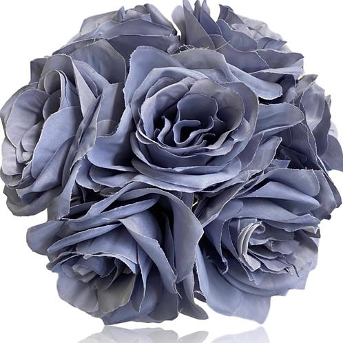 """12"""" Silk Ashley Rose Bouquet x 7"""