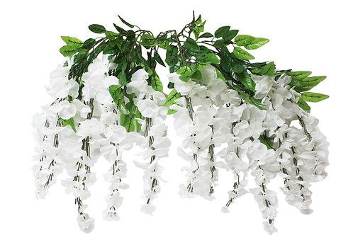 "Silk Wisteria Flower Hanging Bush- 36"" Long"