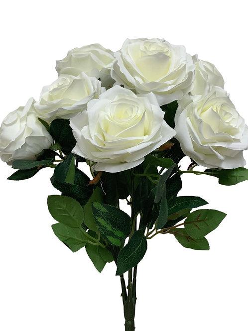 """18"""" Open Rose Bush x10 (FB662-CREAM)"""